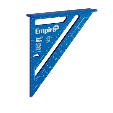 """Empire 7"""" TRUE BLUE Laser Etched Rafter Square"""
