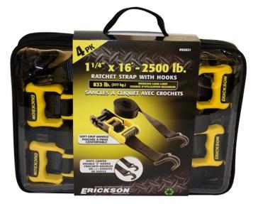 """Erickson Ratchet Strap 1 1/4""""X16' 2500#"""