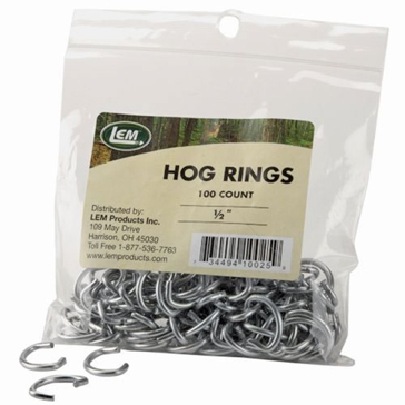 "LEM 1/2"" 100 Pack Hog Rings 025A"