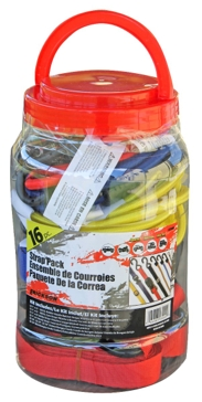 Erickson  Bungee/Strap Pack in a Jar Assortment 16 pc.