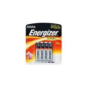 Energizer Max AAA Batteries 8PK