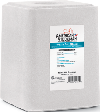 American Stockman White Salt Block 50lb