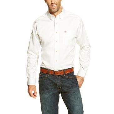 Ariat 10000503 Men's Long Sleeve Twill Button Down White Shirt