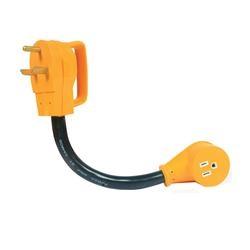 CAMCO 55153 Dogbone Power Grip Adapter, 15 A Female/30 A Male, 125 V, Male, Female