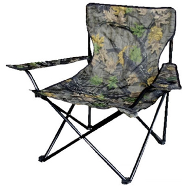 WFS Quad Burly Camo Folding Chair with Armrests