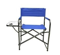 WFS Folding Director's Chair with Side Table