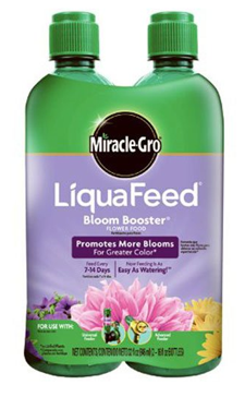 Miracle-Gro LiquaFeed Bloom Booster Flower Food Refill Pack, 2-Pack (Liquid Plant Fertilizer Specially Formulated for Flowers)