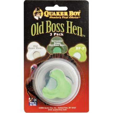 Quaker Boy Old Boss Hen 3-Pack Turkey Call 11308