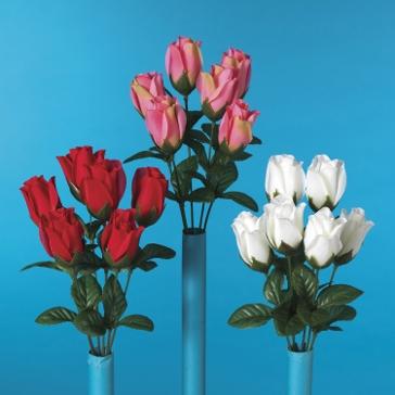 """Gerson 13"""" Rosebud Bush Flower"""