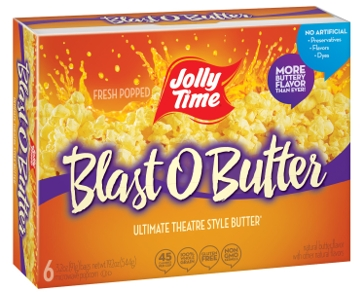 Jolly Time Blast O Butter Popcorn- 6 Pack