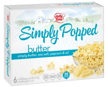 Jolly Time Simply Popped Popcorn- Butter