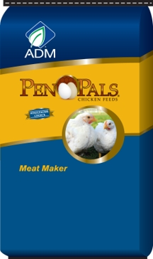 ADM Pen Pals Meat Maker Chicken Feed 50lb