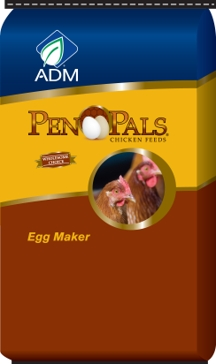 ADM Pen Pals Egg Maker Complete Chicken Feed 50lb