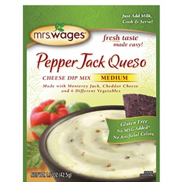 Mrs. Wages Pepper Jack Queso Cheese Dip Mix 1.5oz