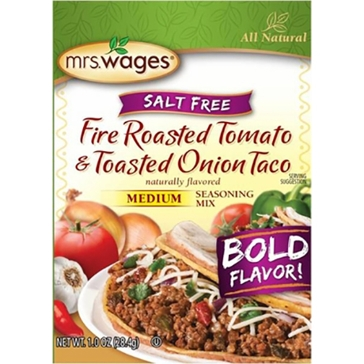 Mrs. Wages Salt-Free Fire Roasted Tomato & Toasted Onion Taco Mix 1oz