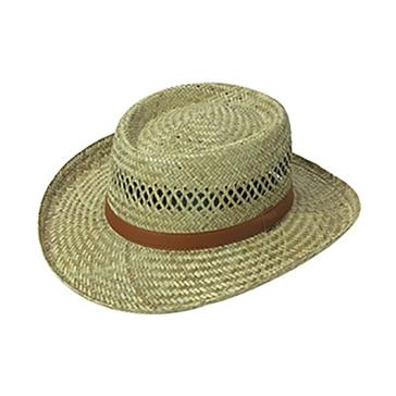 Broner Mens Lindu Straw Vented Gambler Hat