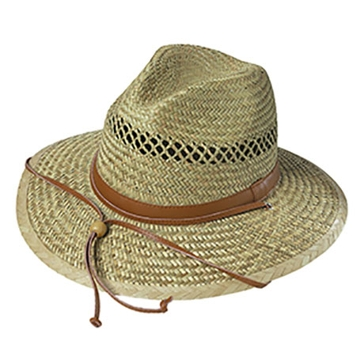 Broner Mens Lindustraw Safari Hat w/Chincord