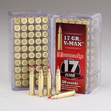 Hornady 17 HMR 17 gr V-MAX Rimfire Ammo