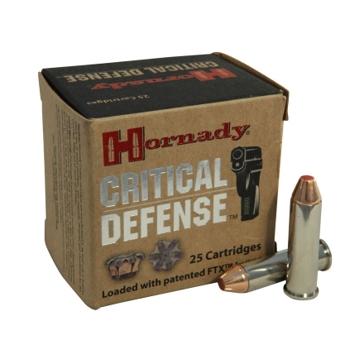 Hornady Critical Defense 357 Mag 125 Grain FTX Pistol Ammo