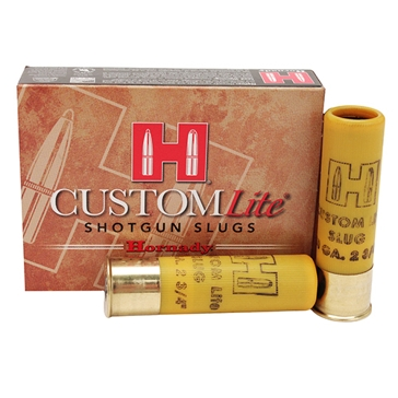 "Hornady Custom Lite Shotgun Slug 20ga 250 GR 2-3/4"" FTX 5RD"