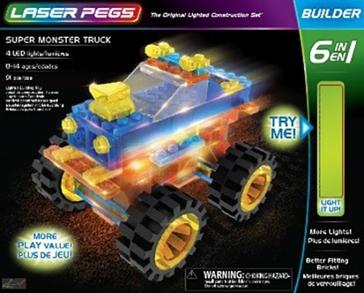 Laser Pegs Super Monster Truck Kit