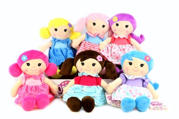 "Gi-Go Toys 11"" Soft Doll Assorted"