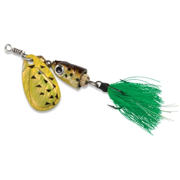 Blue Fox Vibrax Shallow #02 Black Chartreuse Fishing Lure
