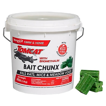Tomcat Bromethalin Bait Chunx - 4lb.