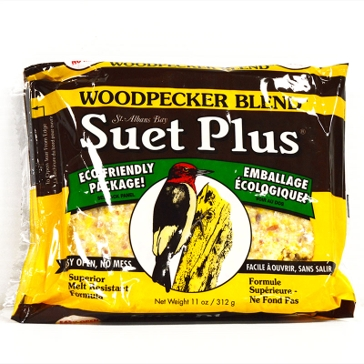 St. Albans Bay Suet Plus 11oz Cake Woodpecker Blend