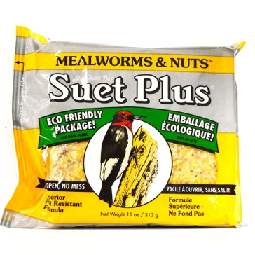 St. Albans Bay Suet Plus 11oz Cake Mealworms & Nuts
