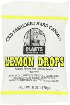 Claeys Old Fashioned Hard Candies - Natural Lemon 6 Oz.