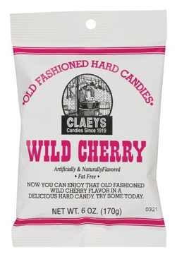 Claeys Old Fashioned Hard Candies - Wild Cherry 6 Oz.