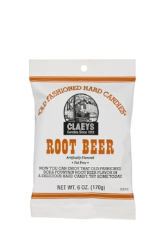 Claeys Old Fashioned Hard Candies - Root Beer 6 Oz.
