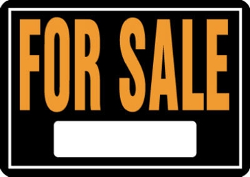 "10"" x 14"" ""For Sale"" Aluminum Sign"