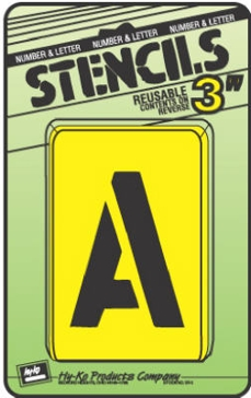 """3"""" Numbers & Letters Stencil Kit"""