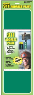 "4-5/8"" x 18"" Address Plate 911"