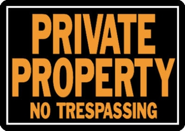 "10"" x 14"" ""Private Property"" Aluminum Sign"