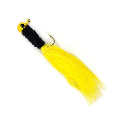"Johnson Beetle Bou 2"" Yellow/Black/Yellow 1/16oz Lure 10-Pack"