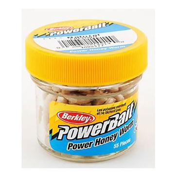 "Berkley PowerBait Power Honey Worm 1"" Natural Bait"