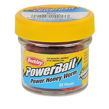 "Berkley PowerBait Power Honey Worm 1"" Red Bait"