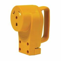 CAMCO 55343 Replacement Receptacle, 125 V, 30 A, Female Contact, Yellow