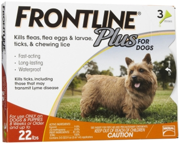 Frontline Plus for Dogs 0-22lb 3mo Supply