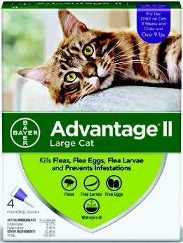 Advantage II Flea Prevention and Treatment - Cats 9 lbs. and over