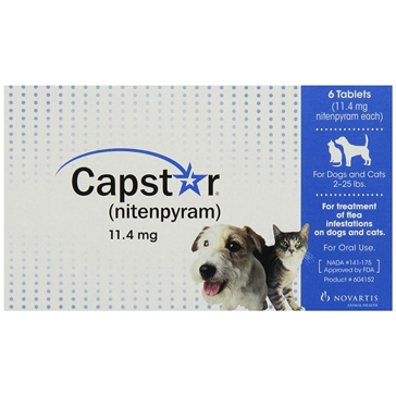 Capstar (nitenpyram) Flea Tablets for Dogs and Cats 2-25lbs