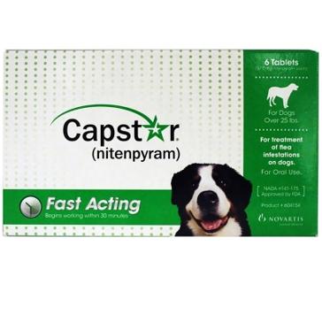 Capstar (nitenpyram) Flea Tablets for Dogs over 25lbs