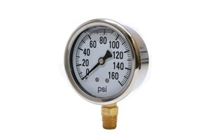 "Liquid Filled Gauge 2.5"" 60PSI"