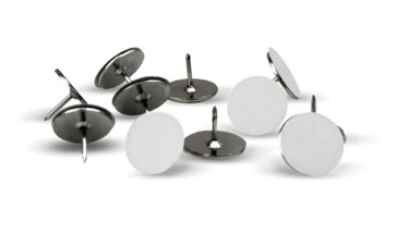 HME Products Trail Marking Metal Reflective Tacks 50 White