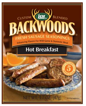 LEM Backwoods 1.67 Oz. Fresh Sausage Hot Breakfast Seasoning 9003