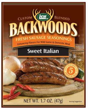 LEM Backwoods 1.67 Oz. Fresh Sausage Sweet Italian Seasoning 9004