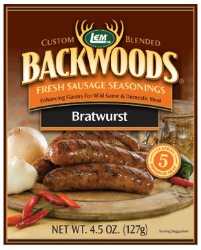 LEM Backwoods 4.5 Oz. Fresh Sausage Bratwurst Seasoning 9389